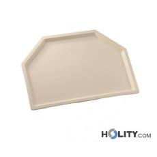 Trapezförmiges Tablett aus verstärktem Polyester h28247