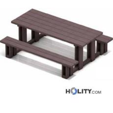 Set Picknicktisch mit Bänken für Park h285_27