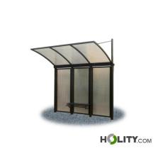 Überdachung Bushaltestelle mit Sitzbank h28736