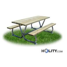 Set Picknicktisch mit Bänken für Park und mehr h28744