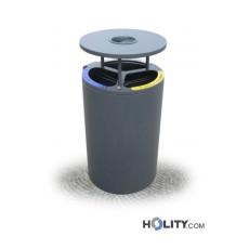 Abfallbehältersystem zur Mülltrennung mit Aschenbecher h28755