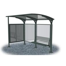 Überdachung Bushaltestelle grau-anthrazit h28758