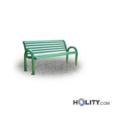 Sitzbank für öffentliche Bereiche als Stadtmobiliar 150 cm h28775