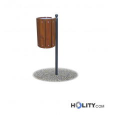 Abfalleimer mit Holz h28782