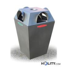 Abfallbehältersystem zur Mülltrennung mit Aschenbecher h28783