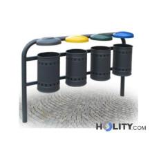 Abfallbehältersystem zur Mülltrennung h28784