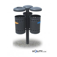 Abfallbehältersystem zur Mülltrennung h28785