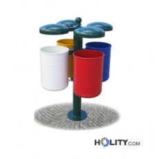 Abfallbehältersystem zur Mülltrennung h28786