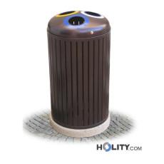 Abfallbehältersystem zur Mülltrennung mit drei Fächern h28787