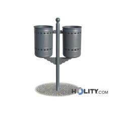 Abfallbehältersystem für Aussenbereiche h28789
