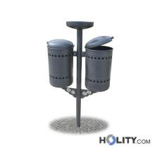 Abfallbehältersystem für Aussenbereiche h28792