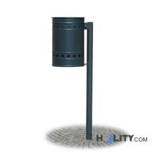 Abfallbehälter als Stadtmobiliar aus Stahl h28793