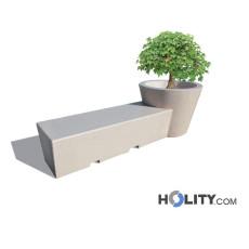 Sitzbank aus Beton mit Blumenkübel h287_110