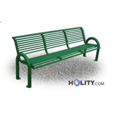 Sitzbank aus verzinktem Stahl als Stadtmobiliar h287_112