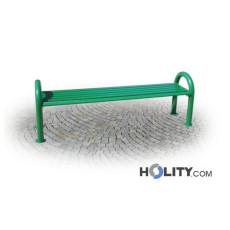 Sitzbank aus verzinktem Stahl als Stadtmobiliar h287_114