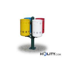Abfallbehältersystem zur Mülltrennung h287_117