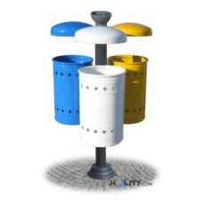 Pfosten-Abfallbehälter für die Mülltrennung h287_118