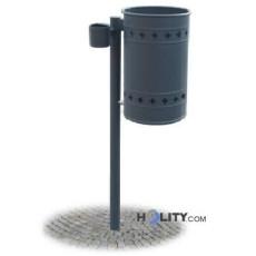 Abfallbehälter mit Aschenbecher h287_120