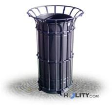 Abfallbehälter aus Stahl mit Einsatz h287_121