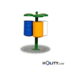 Abfallbehältersystem zur Mülltrennung h287_151