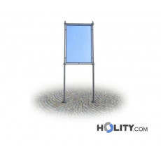 Werbe-/Infotafel als Stadtmobiliar aus Metall