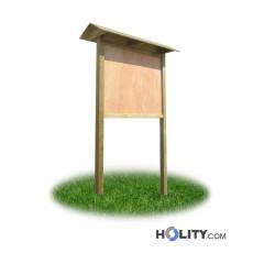 Werbe-/Infotafel aus Holz für Waldwege, Bergpfade h287_181