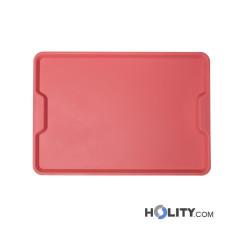 Rechteckiges Tablett für Fast-Food mit Griff h30322