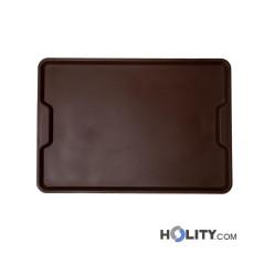 Rechteckiges Tablett mit Griffmulden h30341