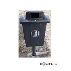 Abfallbehälter aus Kunststoff als Stadtmobiliar h32639