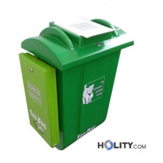Hundetoilette - Abfallbehälter mit Beutelspender h326_45