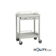 Medikationswagen für Krankenhäuser mit 2 Schubladen h333_07