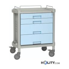 Medikationswagen für Krankenhäuser mit 4 Schubladen h333_08