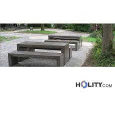 Picknick Tisch aus Beton für öffentliche Plätze h33822