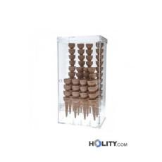 Eiswaffelständer aus Plexiglas für Eisdielen h33944