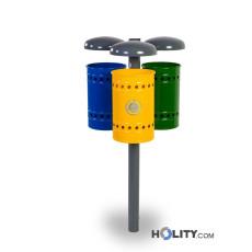 Abfallbehältersystem zur Mülltrennung h35002