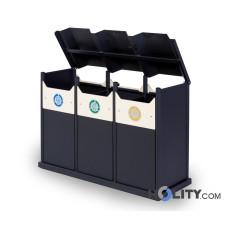 Abfallbehältersystem zur Mülltrennung h35003