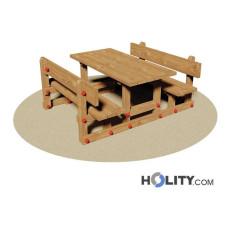 Set Picknick mit Mini Tisch und Bänken h350_118