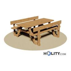 Set Picknick mit Tisch und zwei Bänken h350_121