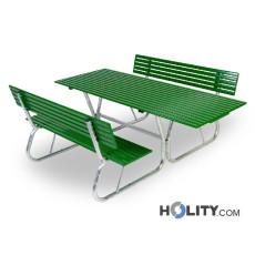 Set Picknick mit Tisch und zwei Bänken h350_157