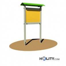 Werbe-/Infotafel aus Aluminium für Parkanlagen h350_177