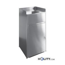 Abfallbehälter, Tablettmülleimer mit Schwingklappe, 260 Liter h41355