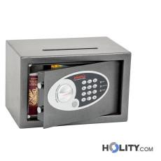 Sicherheitstresor mit elektronischem Tastenschloss und zusätzlichem Einwurfschlitz h4215