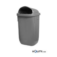 Mülleimer für Außenbereich, Fassungsvermögen 50 Liter h42414
