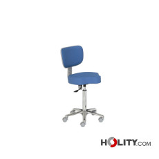 Hocker für Arztpraxis mit dreieckiger Sitzfläche h448_97