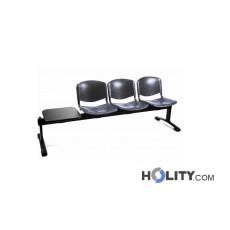 3-er Sitzbank mit Tisch für Wartezimmer h44914
