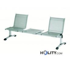2-er Sitzbank mit Tisch für Wartezimmer h44934