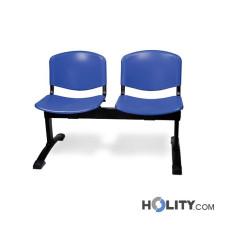 Sitzbank für Wartesaal aus Kunststoff h487_03
