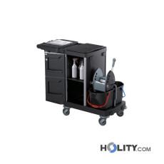 Reinigungswagen mit Sackhalterung und Deckel h489_17