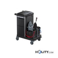 Reinigungswagen mit Sackhalterung und Deckel h489_18