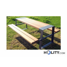 Set Picknick Tisch mit Bänken h493_03